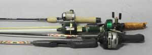 Fishing Rod Collection, Most With Reels, Brands Include Zebco And Johnson, Total Qty 5