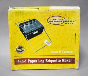 Northern Industrial Tools 4-in-1 Paper Log Briquette Maker, With Manual, In Box
