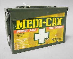 Medi-Can First Aid Outdoor Kit, In Metal Case, Includes First Aid Supply Contents