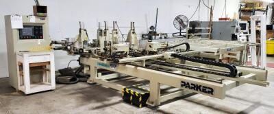Parker PVC Window And Door Welding Produce Cleaning Line, Includes Control Board And Material Tables, See Description For More Information And Video
