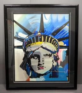 "Peter Max (German-American, 1937 - ), ""Liberty"", Limited Edition Serigraph #258, 1990, Signed Framed And Matted 43"" x 52"", With COA"