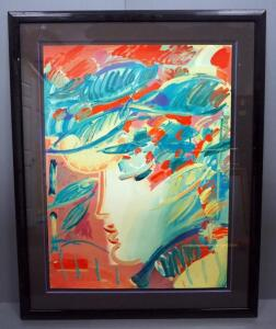 "Peter Max (German-American, 1937 - ), ""The Beauty"", Limited Edition Serigraph #108, 1990, Signed Framed And Matted, 41"" x 51.5"", With COA"