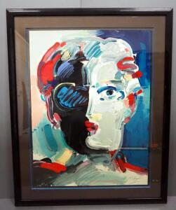 "Peter Max (German-American, 1937 - ), ""The Fauve"", Limited Edition Serigraph #108, 1990, Signed Framed And Matted, 41"" x 51.5"", With COA"