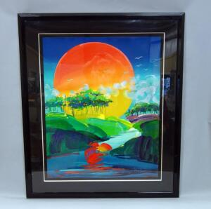 "Peter Max (German-American, 1937 - ), ""Without Borders"", Limited Edition Serigraph #109, 1991, 45"" x 53.5"", With COA"