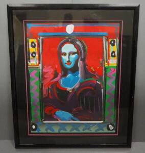 "Peter Max (German-American, 1937 - ), ""Mona Lisa"", Limited Edition Serigraph #33, 1991, Signed Framed And Matted, 45"" x 53.5"", With COA"