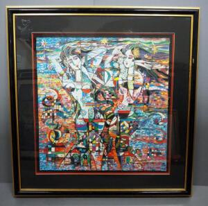 "Ji Cheng (Chinese, 1942 - ), ""Road Of Life II"", Limited Edition Serigraph #132, 1988, Signed Framed And Matted, 33.5"" x 32.5"", With COA"