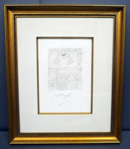 "Peter Max (German-American, 1937 - ), ""Homage To Picasso Volume 3 Etching XI, #018, 1991, Signed Framed And Matted 26.5"" x 32"", With COA"