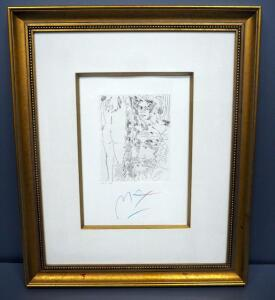 "Peter Max (German-American, 1937 - ), ""Homage To Picasso Volume 3 Etching X, #018, 1991, Signed Framed And Matted 26.5"" x 32"", With COA"