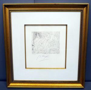 "Peter Max (German-American, 1937 - ), ""Homage To Picasso Volume 3 Etching IX, #018, 1991, Signed Framed And Matted Framed 28"" x 29.5"", With COA"
