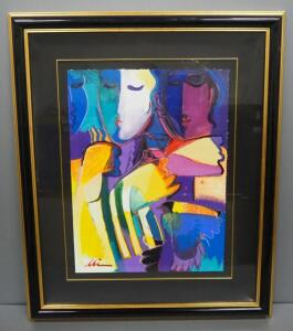 "Ali Golkar (Iranian, 1948 - ), ""Untitled"", Acrylic On Paper, Signed Framed And Matted, 31.5"" x 37.5"""