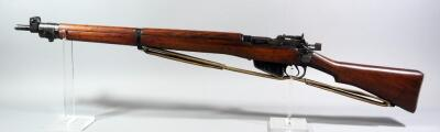Lee Enfield No 4 MK .303 Cal Bolt Action Rifle SN# ANS907, Mfg 1943 England, With Canvas Sling