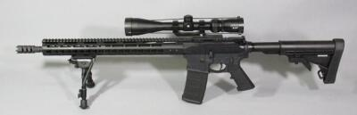 "Anderson Mfg AM-15 5.56 NATO / .223 Rifle SN# 19158827, 18"" BBL, Keymod Forend, With Vortex Sonora 4-12x44 Scope, Bipod And Adjustable Stock"