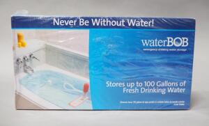 Water BOB Emergency Drinking Water Storage Bladder, Holds Up To 100 Gallons, New In Box