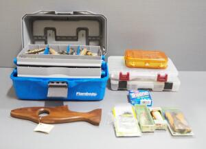 Fishing Supplies, Includes Lures, Sinkers, Bobbers And More, In Flambeau Tackle Box And Plano Organizers