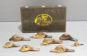 Freeze-Dried Duck Heads In Bass Pro Organizer