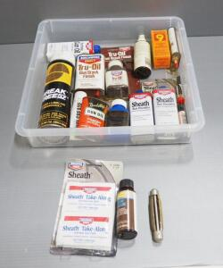Gun Care Supplies, Includes Sheath Rust Preventative, Gun Stock Finish, Gun Oil And More, Local Pickup Only