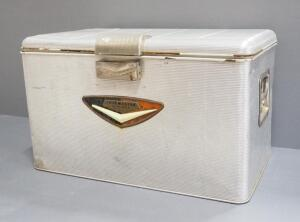 Vintage Thermaster By Poloron Insulated Metal Cooler