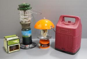 Coleman And Sears Propane Lanterns, Qty 3, With Replacement Globe And 1 Propane Tank, Local Pickup Only