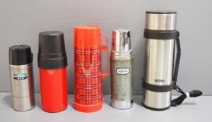 Thermos And Aladdin Thermos Assortment, Qty 5