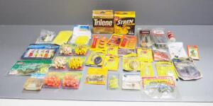 Fishing Supplies, Includes Spinners, Lures, Line, Rod Repair Kits, And More, Contents Of Box