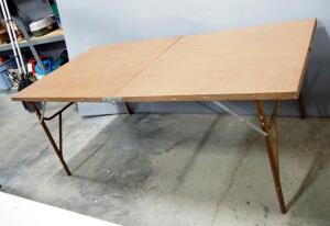 "Aluminum Bi-Fold Folding Table, Approx 28"" High x 72"" Long x 36"" Wide"