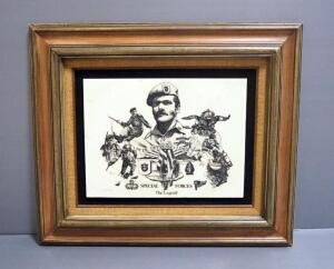 "Collector's Art Ltd. Etched Art De Oppresso Libr-Special Forces The Legend, 26.5"" Wide x 22.5"" High"