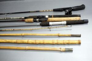 Fishing Rods, Brands Include Daiwa, Bass Pro, And More, Total Qty 6