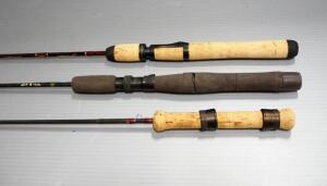 Fishing Rods, Light Action, Includes Pflueger And Fenwick, Total Qty 3