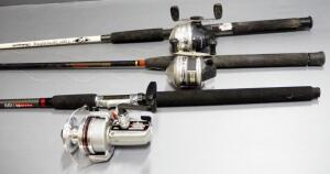 Fishing Rods And Reels, Medium Action, Includes Abu Garcia, Zebco Rhino And Shakespeare Tiger Spincasting