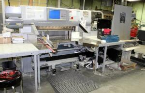 "2008 Polar 115 XT Autotrim Cutting System, 3 Phase, Includes Dorner Disposal Conveyor Model 705513, 67"" x 125"" x 120"", Also Includes Machine Specific Parts,Tools, And Replacement Blades Qty 4, Bidder Responsible For Proper Disconnection & Removal, See Des"