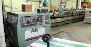2002 Muller Martini Presto Stitcher With 7 Knife Trimmer, Cover Pocket Feeder, And 8 Pocket Stations, Includes Rolling Stack-On Tool Box With Machine Specific Tools And Parts, Bidder Responsible For Proper Disconnection & Removal, See Description For Vide