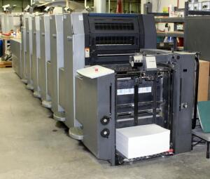 2001 Heidelberg Speedmaster SM 52 Printing Press, 5 Color With Coater, Includes Additional Parts And Accessories, 60,639,750 Impressions. Bidder Responsible For Proper Disconnection & Removal, See Description For Video