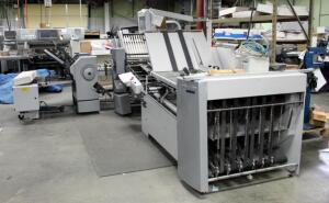 2010 Heidelberg Stahlfolder RFH-82 Folder With TH-82 Power Supply, 2.VUH-66 Folder, And Catcher Model SAK-94 With Additional Rollers, Bidder Responsible For Proper Disconnection And Removal, Hardwired In, See Description For Video