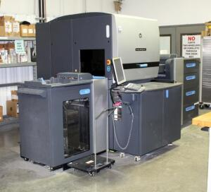HP Indigo 5600 Digital Press, Lauda Ultra Cooler And Dongen Transformer, Includes 20 Cans Of HP Electro Ink, Second Day Load Out Only, Bidder Responsible For Proper Disconnection And Removal