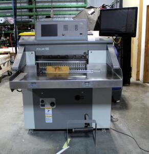 "Polar 66 Programmable Paper Cutter, Model 66X, Cutting Width Up To 67CM, 72"" X 49"" X 74"", Bidder Responsible For Proper Disconnection & Removal"