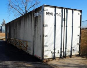"Freight Container, 48' x 9'6"" x 102"", 10,389 Pound Tare Weight, Bidder Responsible For Proper Removal"