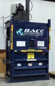 Bace Vertical Recycling Baler, Model V63HDHD, Approx. 11' x 7' x 3.5', Bidder Responsible For Proper Removal, Bolted To Floor