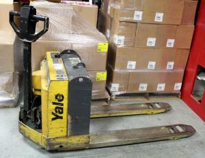 Yale Battery Powered Pallet Jack, Model MPB040ACN24C2748, 4000Lb Capacity