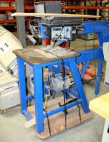 Sabermatic Die Saw, Model DJV36, With Delta Drill Press, Model 11-950, On Steel Stand - 4