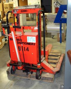 InterThor Trans Positioner Forklift, Model LL1000TES, 2200Lb Capacity, Unknown Working Order