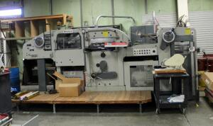 1972 Bobst SA Autoplatine SP900E Die Cutter Machine, Includes Plates, Deck, Metal Trash Cart And Accessories, Capacities - 90cm x 63cm Max, 35cm x 29.5cm Min, Approx. Measurements 7' x 15' x 6', Includes Transformer, 3 Phase, Bidder Responsible For Proper