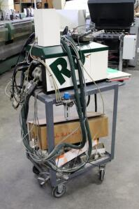 Robatech 4/4 Hot Melt Glue Machine On Rolling Cart, Includes Owners Manual And More