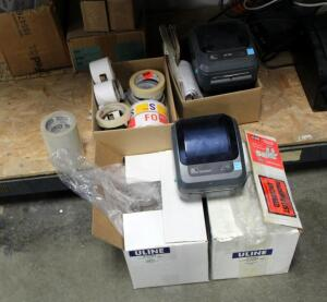 Zebra Label Printers, Qty 3, Models GK420D, ZP505, And LP28ff, And Direct Thermal Labels
