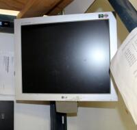 "Samsung Sync Master 20"" Monitor, Model 2033, LG Flatron 17"" Monitor, Model L1730S, HP Wired Keyboard, And Wired Mouse - 3"