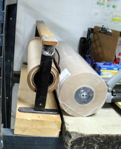 "24"" Paper Roll Dispenser Including New Roll Of 24"" Kraft Paper"