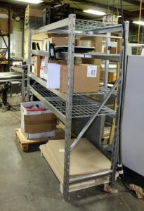 "Industrial Metal Storage Rack With Adjustable Shelves, 72"" x 77"" x 24"", Contents Not Included"
