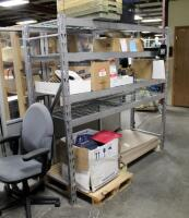 "Industrial Metal Storage Rack With Adjustable Shelves, 72"" x 77"" x 24"", Contents Not Included - 2"