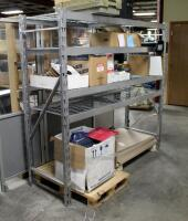 "Industrial Metal Storage Rack With Adjustable Shelves, 72"" x 77"" x 24"", Contents Not Included - 3"