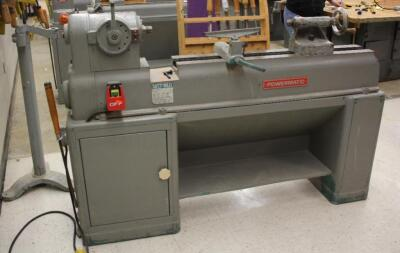 "Powermatic Wood Lathe, Model 90, With Lathe Milling Tools, 49"" x 68"" x 16.5"""