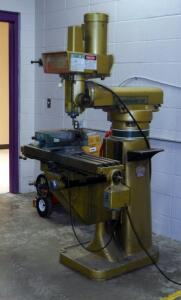 "Powermatic/Burke Model MVN, Vertical Millwright Machine, With 6.5"" Stage Vice, Bidder Responsible For Proper Removal, Hardwired In"